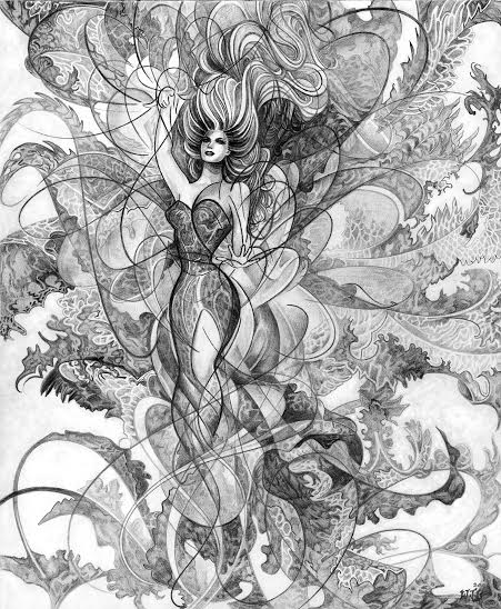 """""""Oracle""""/Black and white pencil"""