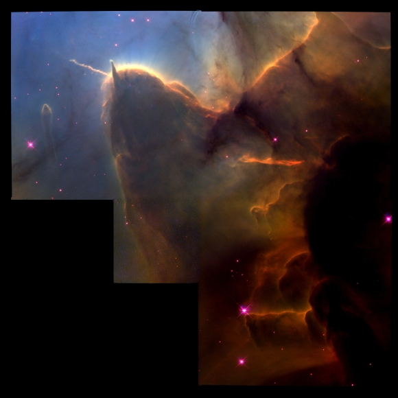 Trifid Nebula courtesy Hubble Space Telescope (Click on image for larger view)