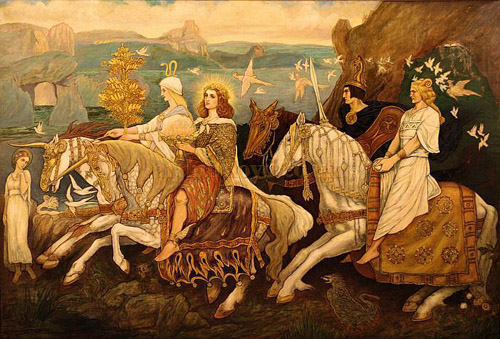 """The Riders of the Sidhe"" John Duncan 1911 McManus Galleries, Dundee"