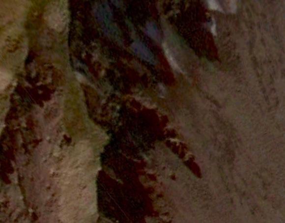 """Giant scorpion, 20+ meters, Buldir Island, Alaska 52°21'47.68""""N 175°56'58.29""""E"""