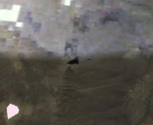 """Unknown artifact, 52 meters diameter, Kerguelen Islands 49°32'24.06""""S 69°26'35.37""""E"""