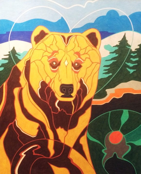 """Golden Mama Bear""/Multi-color pencil"